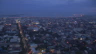 Time Lapse Aerial Shot City Day to Night Cebu Bohol Philippines