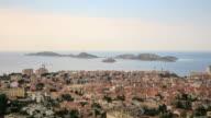Intervallo di tempo 4k: Vista aerea di Marsiglia
