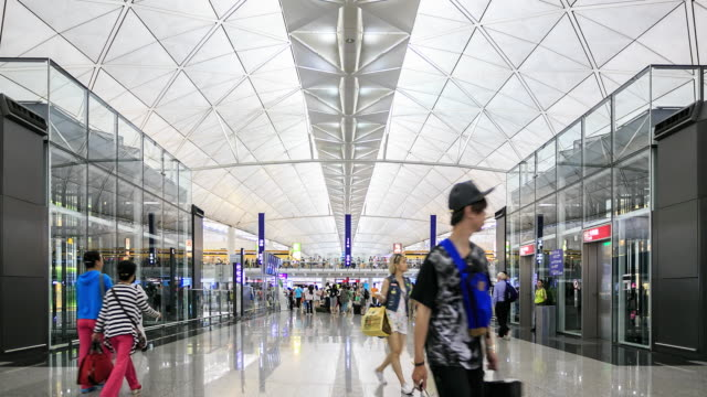 4K Zeitraffer: Flughafen in Hong Kong