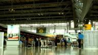Time lapse Airport Suvarnaphumi International