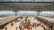 4K Time Lapse : airport terminal