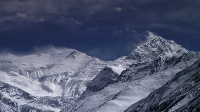 Time lapse Annapurna 3 and Gangapurna.