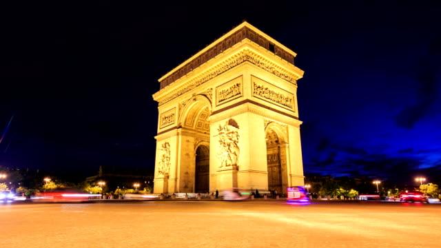 Zeitraffer: Arch Triumpfbogen und den Champs-Élysées in Paris