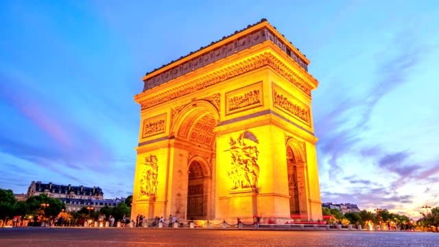 HD-Zeitraffer: Arch of Triomphe, Champs-Elysees