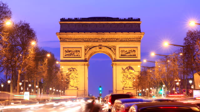 HD Time Lapse : Arch of Triumph