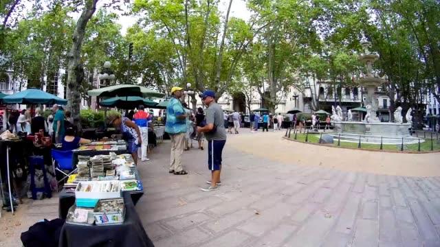Time lapse at Plaza Matriz, Montevideo downtown, Uruguay, 2015