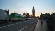 LONDON: Time Lapse at sunset of Westminster