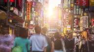 Time lapse at the streets of Shinjuku