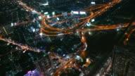 Zeitraffer auf bangkok bei Nacht
