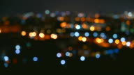 Time lapse bokeh city light