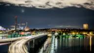 HD Time Lapse: Bridge at Night