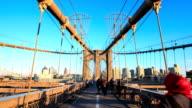 HD Time Lapse : Brooklyn bridge
