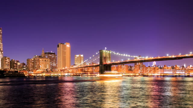 4K Time Lapse : Brooklyn bridge