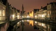 4K Time Lapse : buildings in Bruges