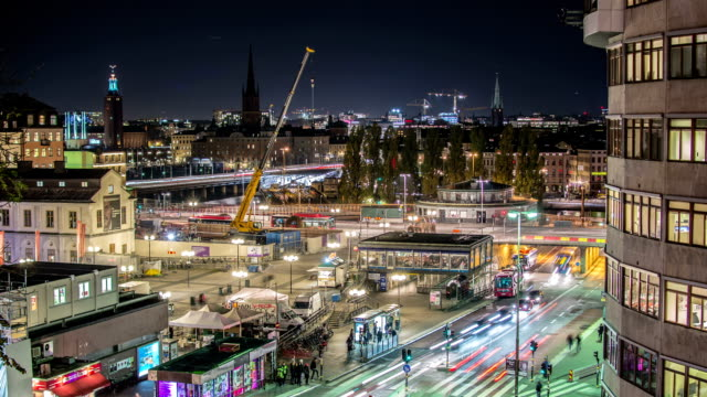 HD Time Lapse: Busy City Stockholm