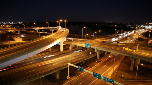 Time Lapse Busy Highway Interchange