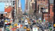 4K Time Lapse : busy traffic Manhattan street