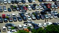 Time lapse car at parking lot