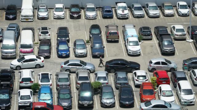 4K Time lapse car parking lot