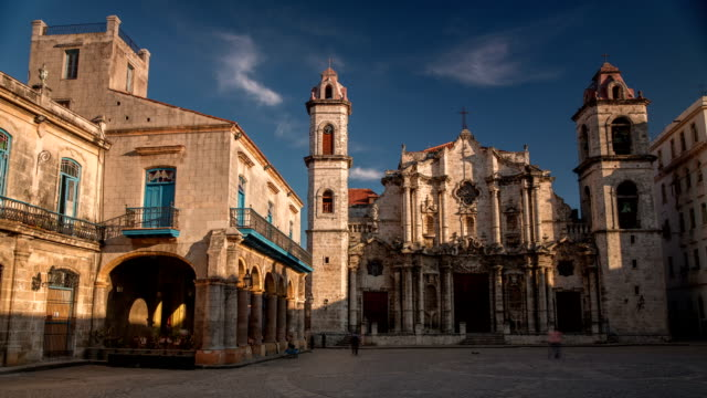 Time Lapse Cathedral of Havana in Cuba