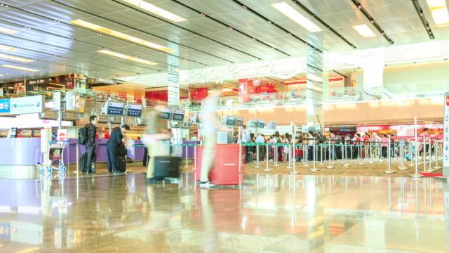 4k Zeitraffer: Changi Flughafenterminal