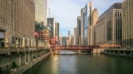 4K Time Lapse : Chicago skyline