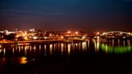 Zeitraffer City Panorama bei Nacht