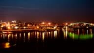 Time Lapse City Night Panorama