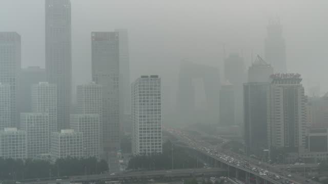 Time Lapse-Stadt unter Belagerung-Peking Luftverschmutzung (Zoom)