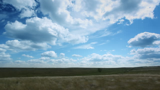 Time lapse clouds animation. Slow left panning