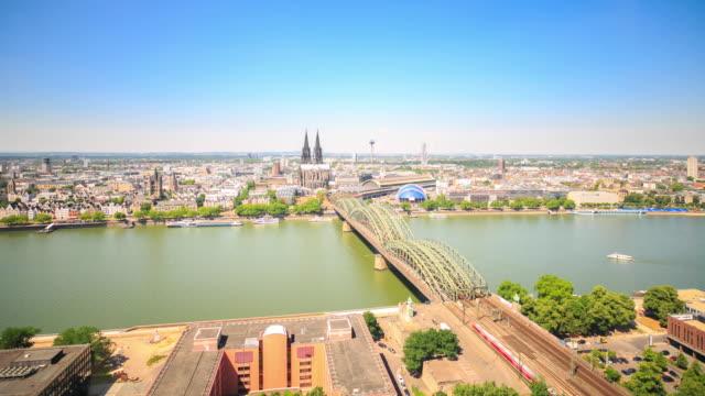 4k Zeitraffer : Köln Stadt