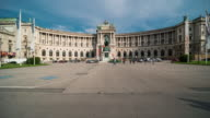 Time Lapse, Crowd waking at Heldenplatz (Heroes' Square), Vienna