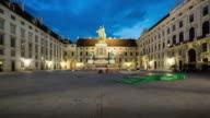 Time Lapse, Crowd waking at Hofburg Palace, Vienna