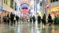 4K Time Lapse : crowded shopping at hondori
