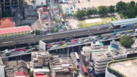Time Lapse - Downtown Traffic in Bangkok (Zoom Out)