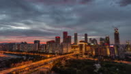 Time Lapse- Dramatic Cityscape at Dusk, Day to Night Transition, Beijing, China