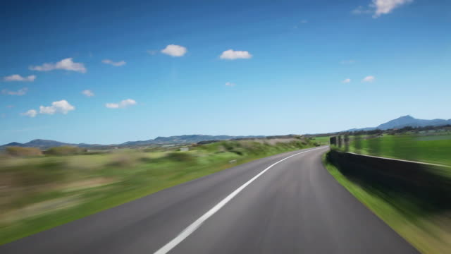 Time Lapse drive on a country road