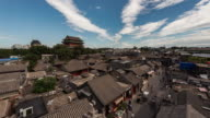 Time Lapse- Drum Tower and Hutong in Beijing (Zoom in)