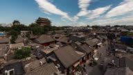 Time Lapse- Drum Tower and Hutong in Beijing (Panning)
