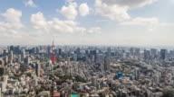 Time Lapse-splendida vista panoramica sullo Skyline di Tokyo