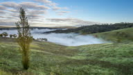 Time lapse fog in the morning in Lithgow