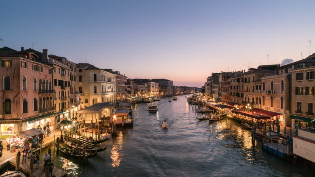 Time lapse Grand Canal at Venice