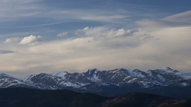 Time lapse HD video Colorado Front Range mountains