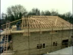 Time lapse house construction, People at Work, England, UK