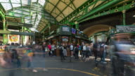 LONDON: Time Lapse in Borough Market of people