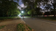 LONDON: Time Lapse in Hyde Park of people waking and cycling