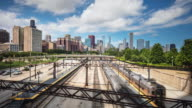 Time lapse in Roosevelt Road Train Station Chicago