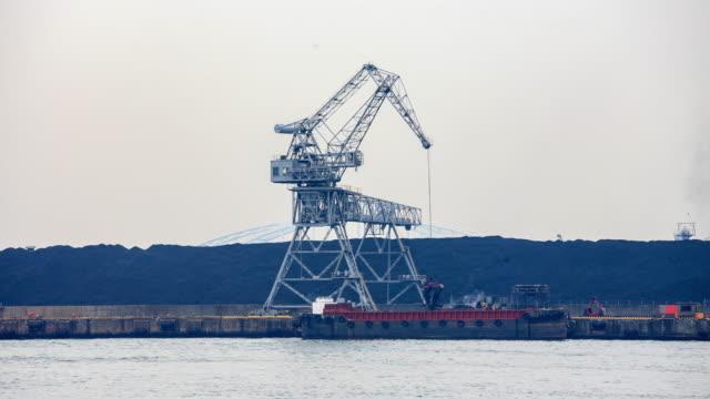 4k Zeitraffer : Industrie und Hafen