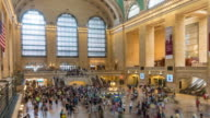 Time lapse interior of Grand Central Station in New York City