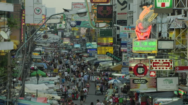 Time Lapse Kaho San Road Bangkok Thailand